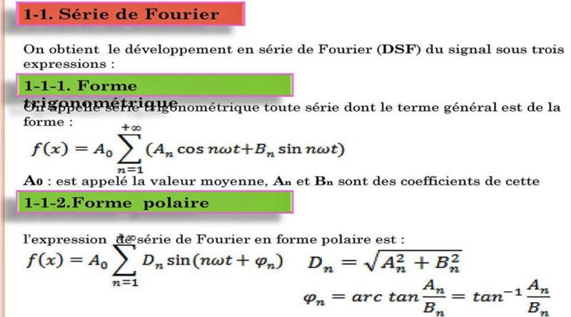Exercice 2 : Développement en série de Fourier d'un signal ...